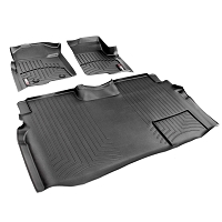 2009-2014 F150 & Raptor SuperCrew WeatherTech Front & Rear Digital Fit Floor Mats (Black)