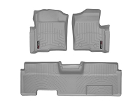2009-2014 F150 & Raptor SuperCab WeatherTech Front & Rear Digital Fit Floor Mats (Grey)