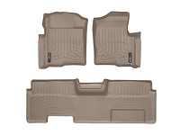 2009-2014 F150 & Raptor SuperCab WeatherTech Front & Rear Digital Fit Floor Mats (Tan)