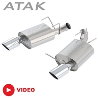 2013-2014 Mustang GT Borla ATAK Axle-Back Exhaust System