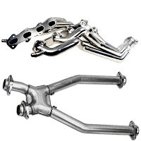 1996-2004 Mustang GT 4.6L BBK Long Tube Headers w/ Off-Road X-Pipe (Chrome)