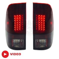 1999-2007 F250 & F350 Recon Lighting LED Taillights (Smoked Red)