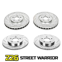 2007-2012 Mustang GT500 Power Stop Z26 Street Warrior Front & Rear Brake Kit (Brembo Equipped)