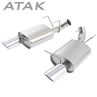 2011-2012 Mustang GT500 5.4L V8 Borla ATAK Axle-Back Exhaust System