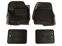 2017-2019 F250 Rugged Ridge Front & Rear Floor Mat Kit (SuperCab)