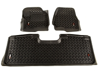 2017-2019 F250 Rugged Ridge Front & Rear Floor Mat Kit (SuperCrew)