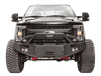 2017-2019 F250 & F350 Fab Fours Premium Winch-Ready Front Bumper with Pre-Runner Guard