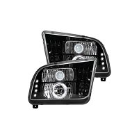 2005-2009 Mustang Recon Lighting LED Headlights (Smoked)