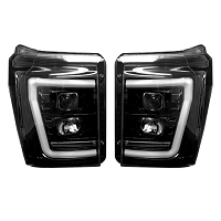 2011-2016 F250 & F350 Recon Projector Headlights w/ OLED Halos (Smoked)