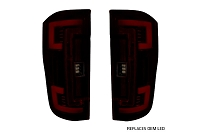 17-19 F250 & F350 OEM LED Recon Dark Red Smoked Tail Lights