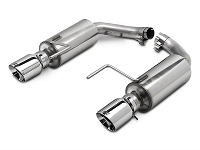 2015-2017 Mustang EcoBoost AWE Touring Edition Axle-Back Exhaust System w/ Chrome Silver Tips