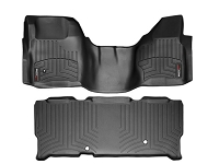 2008-2010 F250 & F350 SuperCab WeatherTech Digital Fit Front & Rear Floor Mats (Black)