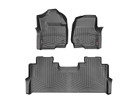 2017-2019 F250 & F350 WeatherTech Front & Rear Floor Liner (Black)