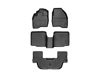 2011-2015 Explorer WeatherTech Complete Set of FloorLiners - Black (Bucket Seats w/ Center Console)