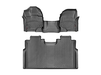 2015-2019 F150 SuperCrew with Front Bench WeatherTech Floor Liner Digital Fit (Black)