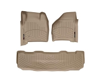 1999-2007 Super Duty Super Crew WeatherTech Digital Fit Front & Rear Floor Mats (Tan)