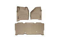 1999-2007 Super Duty Super Cab WeatherTech Digital Fit Front & Rear Floor Mats (Tan)