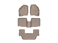 2011-2015 Explorer WeatherTech Complete Set of FloorLiners - Tan (Bucket Seats w/ Center Console)