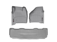 1999-2007 Super Duty Super Crew WeatherTech Digital Fit Front & Rear Floor Mats (Gray)