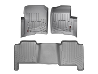 2004-2008 F150 Crew Cab WeatherTech DigitalFit Floor Mats (Grey)