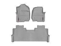 2017-2019 F250 & F350 WeatherTech Front & Rear Floor Liner (Gray)