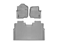 2015-2019 F150 & Raptor Crew Cab WeatherTech Floor Liner Digital Fit (Grey)