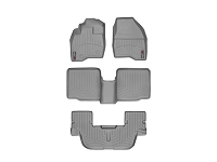2011-2015 Explorer WeatherTech Complete Set of FloorLiners - Gray (Bucket Seats w/ Center Console)
