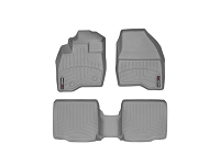 2011-2015 Explorer WeatherTech Front & Rear FloorLiners - Gray (Bucket Seats w/ Center Console)