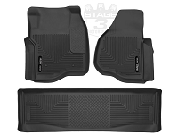 2011-2016 F250 & F350 Crew Cab Husky X-Act Contour Front and Rear Floor Mats