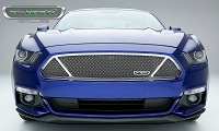 2015-2016 Mustang GT T-REX Upper Class Formed Mesh Partitioned Grille (Polished Stainless Steel)