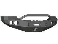 2005-2007 F250 & F350 Road Armor Stealth Series Winch-Ready Pre-Runner Front Bumper w/ Round Light Ports