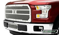 2015-2017 F150 T-Rex X-Metal Studded Lower Bumper Grille (Polished)