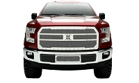 2015-2017 F150 T-Rex X-Metal Studded Upper Grille (Polished)