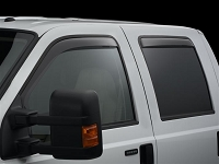 1999-2016 F250 & F350 SuperCrew WeatherTech Front & Rear Side Window Deflectors (Light)
