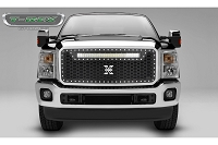 11-16 F250 & F350 T-Rex Stealth Laser Torch Black Grille W/ Chrome Studs