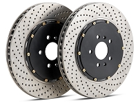 2016-2017 Focus RS StopTech AeroRotors 2-Piece Drilled Front Brake Rotors