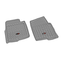 2008-2010 F250 Super Duty Rugged Ridge Front Floor Liner (Gray)