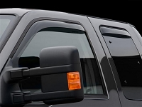 1999-2016 F250 & F350 SuperCab WeatherTech Front & Rear Side Window Deflectors (Dark Smoke)