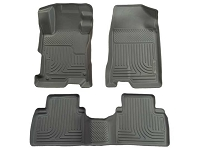 2010-2016 Taurus Husky WeatherBeater Front & Rear Floor Mats (Gray)