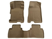 2010-2016 Taurus Husky WeatherBeater Front & Rear Floor Mats (Tan)