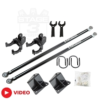 1999-2016 F250 & F350 SRW BDS Recoil Traction Bars & Mount Kit for 0-6