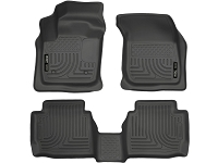 2013-2017 Fusion Husky WeatherBeater Front & Rear Floor Mats (Black)