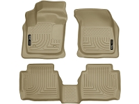 2013-2017 Fusion Husky WeatherBeater Front & Rear Floor Mats (Tan)