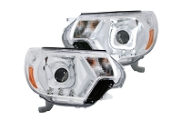 2012-2015 Tacoma LED DRL ANZO U-Bar Projector Headlights (Chrome)