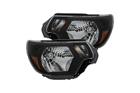 2012-2015 Tacoma ANZO Crystal Headlights (Black)