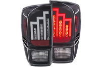 2016-2020 Tacoma ANZO LED Tail Lights (Black/Clear)