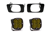 2015-2020 F150 Baja Designs Squadron Amber SAE-Compliant Off-Road LED Fog Light Kit (Includes Mounts)