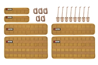 BuiltRight Industries Tan 6-Piece Tech Panel Kit