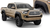 2016-2020 Tacoma Bushwacker Black Pocket Style Fender Flare Set