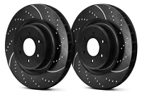 2008-2012 F250 & F350 4WD EBC 3GD Series Sport Dimpled & Slotted Rear Rotors